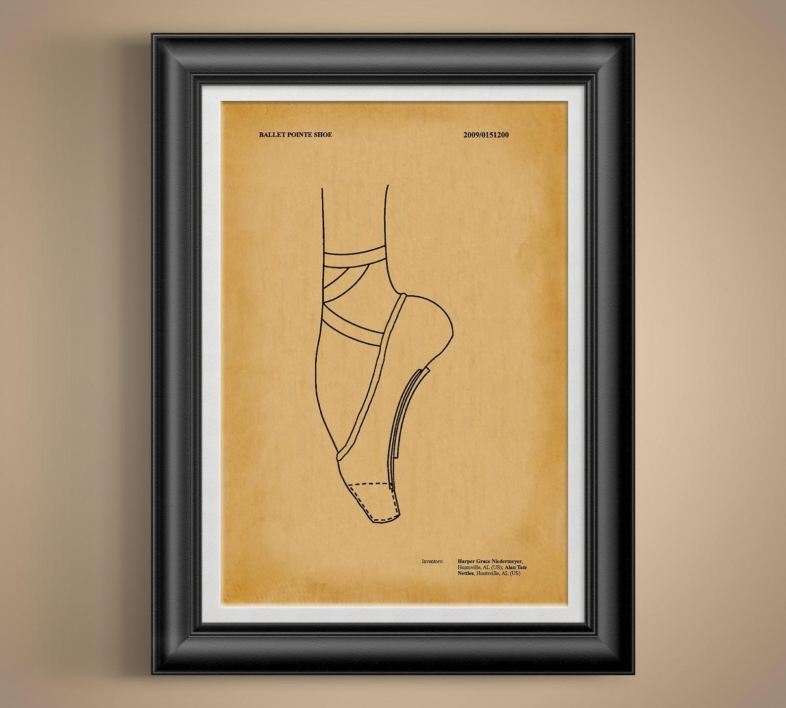 pointe shoes * ballerina gift * toe shoe * ballet shoes * design patent invention * dance studio * dance mom * ballet dancer gif