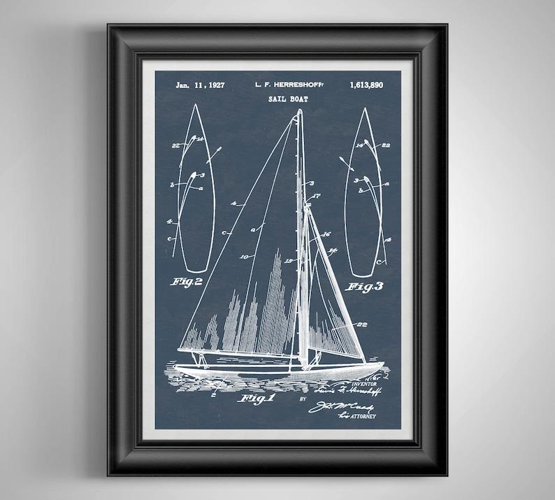 Rustic Sailboat Art Sailing Coastal Wall Art Sailor Gift Etsy