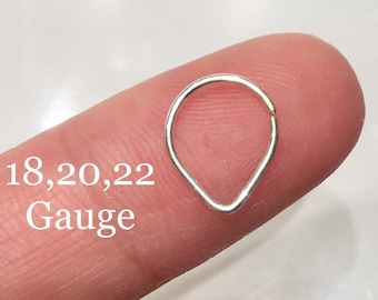Triangle Septum Ring,14k Rose Gold ,14k Yellow Gold Filled Septum Ring 18G 20G 22G 24G 6mm 7mm 8mm 9mm 10mm Silver Filled Nose Hoop Ring