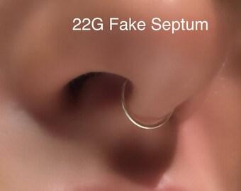 22 Gauge Fake Septum Ring.