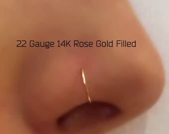 22Gauge Nose Ring Hoop Piercing