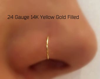 24 Gauge FAKE Nose Ring