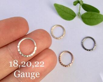 Septum Ring,14k Rose Gold ,14k Yellow Gold Filled Septum Ring 18G 20G 22G 24G 6mm 7mm 8mm 9mm 10mm Silver Filled Nose Hoop Ring