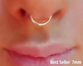 Tiny Fake Nose Ring Hoop Piercing