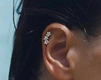 Clear Cartilage Stud Etsy