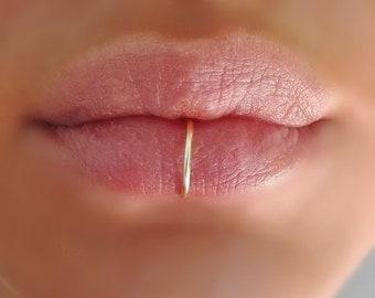 Fake Lip Ring Etsy