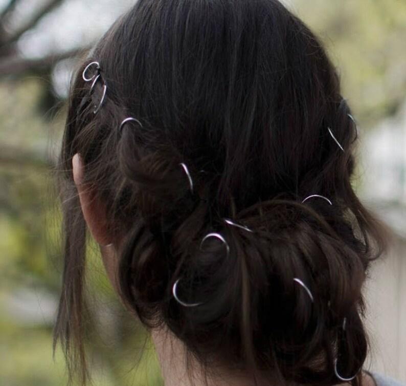Beaded hair rings braid accessories hair hoop rings for image 0