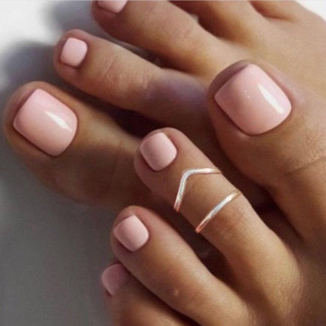 Sterling Silver 2 Rings Toe Rings for Women Toe Rings Adjustable Toe Ring