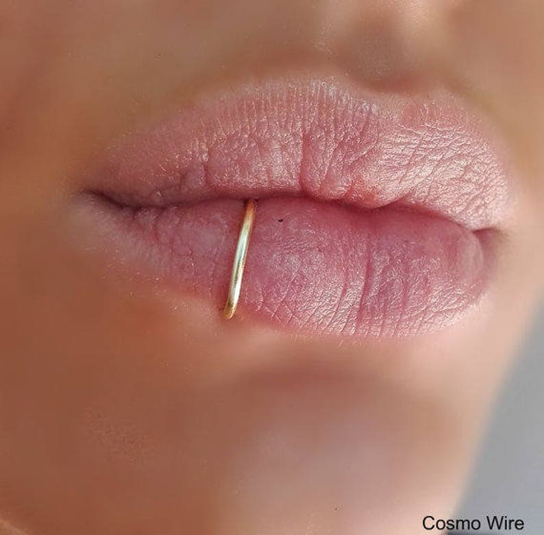 SILVER PLATED/925 Sterling Silver/14K Gold Filled Fake lip image 0