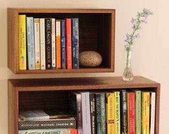 Floating Bookshelf Shelves Hanging Bookshelves Wall Bookcase Storage Solid Wood Modern Shelf