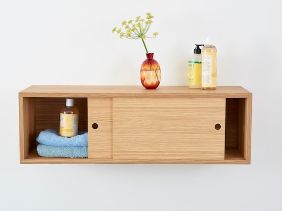 Floating Kitchen Storage Cabinet With, How To Make A Floating Cabinet