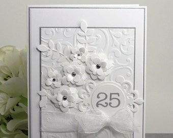 Year anniversary card silver wedding anniversary th