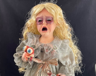 These Eyes, Cry every Night for You Porcelain Horror Doll