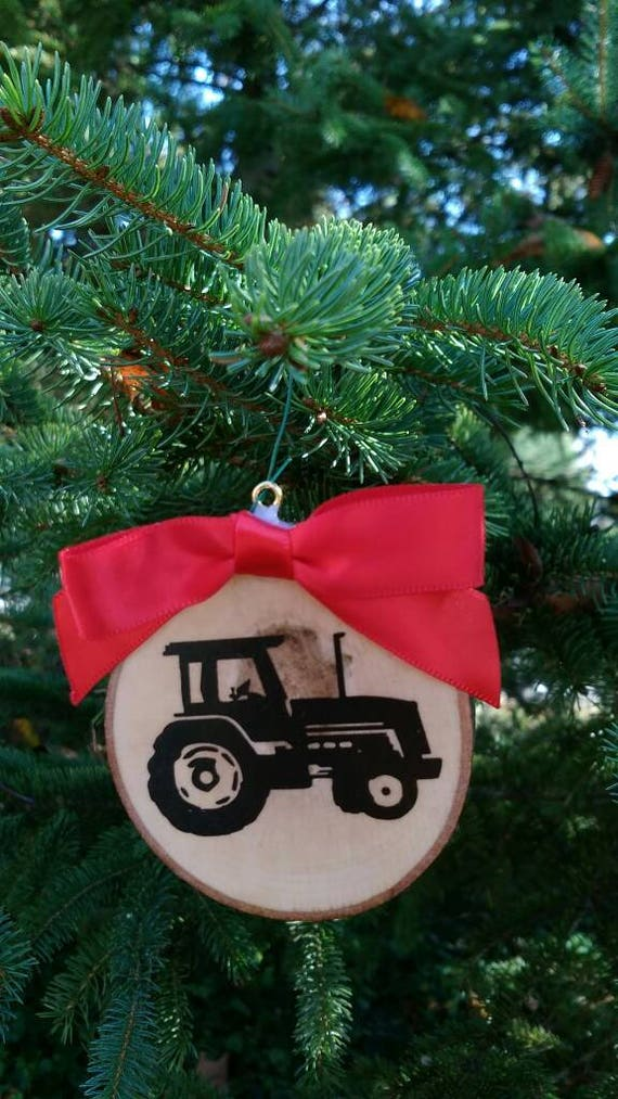 Tractor Christmas ornament modern style farm country rustic | Etsy