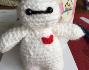 Tiny Crocheted Baymax from Big Hero 6
