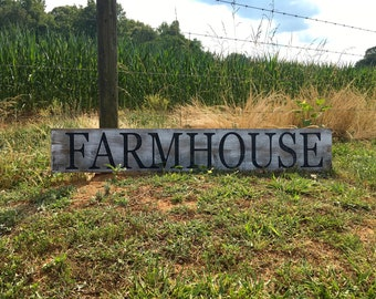Large FARMHOUSE sign Rustic Distressed County home decor