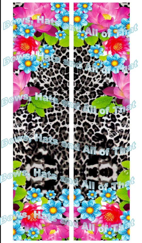 Flower and Cheetah Sublimation Download Only!!