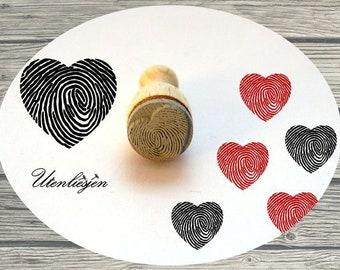 Fingerabdruck Herz Etsy