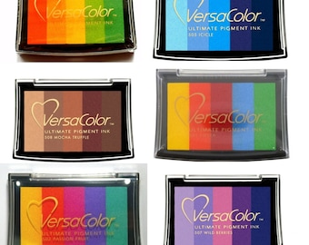 VersaColor 5 colours stamp pad in 6 variants