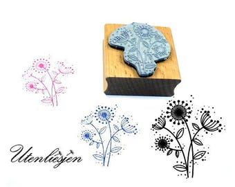 Stamp flower, meadow, dandelion, field flowers, 4 cm