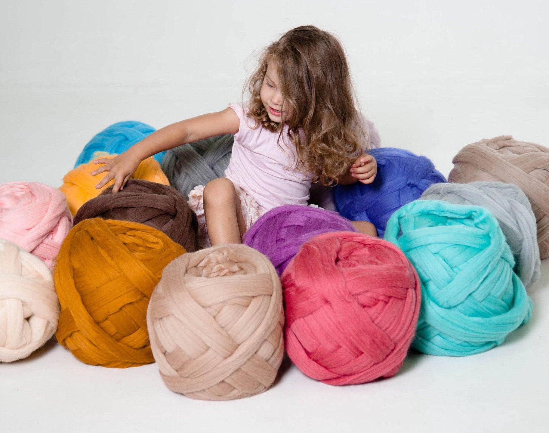 Riesen Wolle Garn für Arm Knitting stricken Wolle sperrige