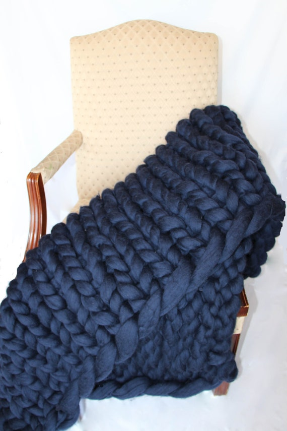 promo sale super chunky knit blanket wool knit blanket etsy. Black Bedroom Furniture Sets. Home Design Ideas