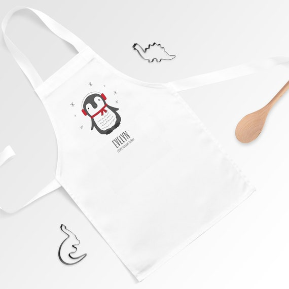 Toddler/'s Personalised Apron Spoon Licker Kitchen Baking Cooking Pinny Child