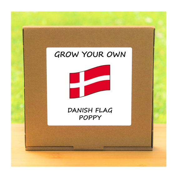 Grow Your Own Danish Flag Poppies Plant Kit