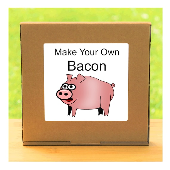 Make Your Own Home Cured Bacon - Beginner Friendly Homemade Bacon Making Kit - Unusual, Unique and Quirky Gift for Men or Women