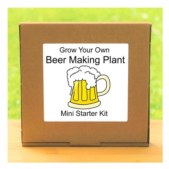 Grow Your Own Beer / Lager Plant Growing Kit – Beginner friendly complete starter kit - indoor gardening gift for men, women or children