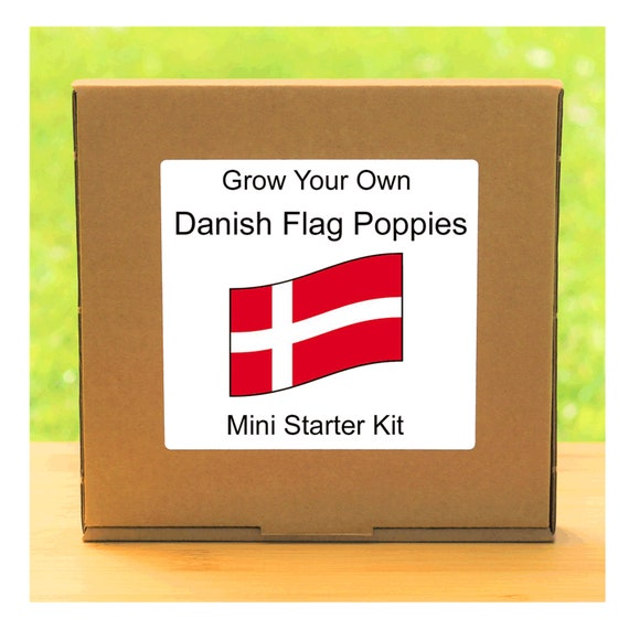 Indoor Windowsill Gardening Gift - Grow Your Own Danish Flag Poppies Plant Kit