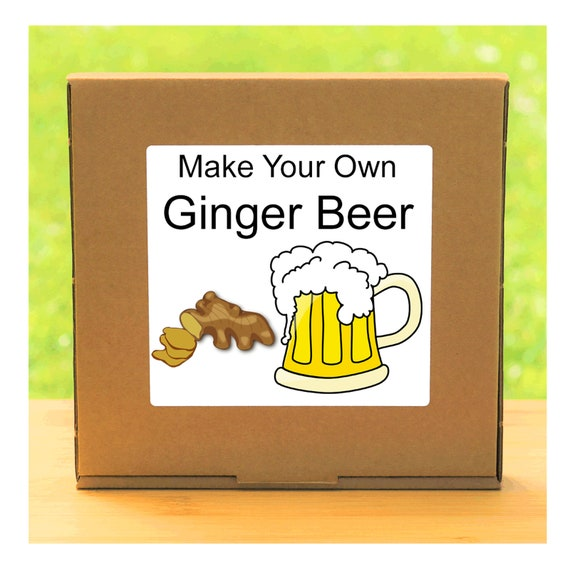 Make Your Own Traditional Ginger Beer - Beginner Friendly Homemade Ginger Beer Making Kit - Unusual, Unique and Quirky Gift for Men or Women
