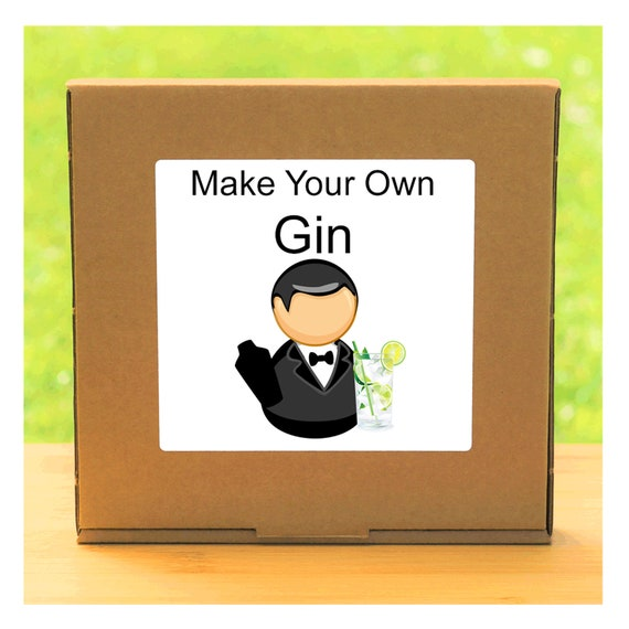 Make Your Own Gin - Beginner Friendly Homemade Botanical Infused Gin Making Kit - Unusual, Unique and Quirky Gift for Men or Women