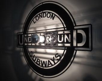 Design lamp applique London UNDERGROUND sign