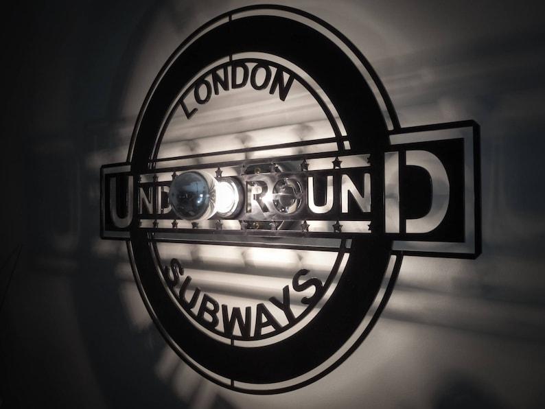 Design lamp applique London UNDERGROUND sign image 0