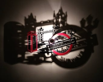 London tower bridge black and Red applique
