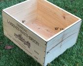6 BTL French Wine Crates, Wood Crates, Rustic Wedding Decor, Gift Card Box, Wine Bar Home Decor, Gift Box, Storage Crates, Garden Box.