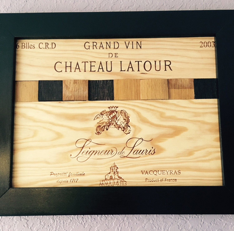 Wine Panels Wine Barrels Frame Art   Etsy