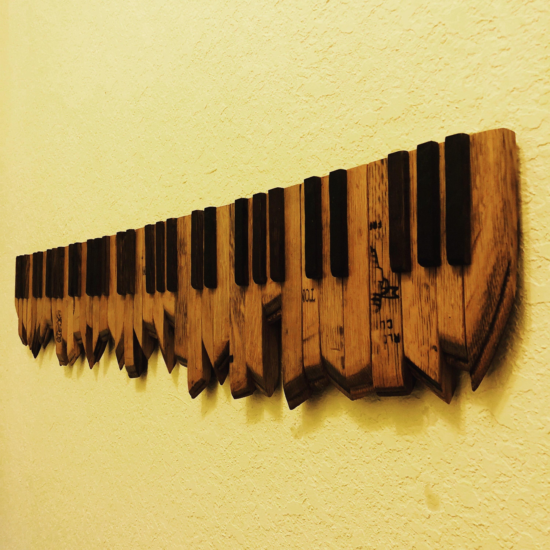 Wall decor Piano Keys 47 Wine Barrel art | Etsy
