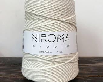 3 mm string, bulk cord, macrame cord, macrame string, craft string, macrame twine, macrame rope, cotton rope, cotton string, natural cotton