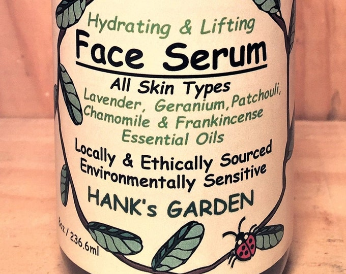 Featured listing image: Hydrating & Lifting FACE SERUM - All Skin Types - Moringa, Rosehip Seed, Carrot Seed Oils - Lavender, Patchouli, - Organic Vegan Non GMO