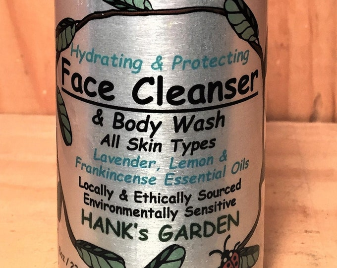 Featured listing image: Hydrating, Protecting Face Cleanser & Body Wash - Lavender, Lemon, Frankincense Essential Oils - Organic, Vegan, Cruelty Free, No Palm Oil