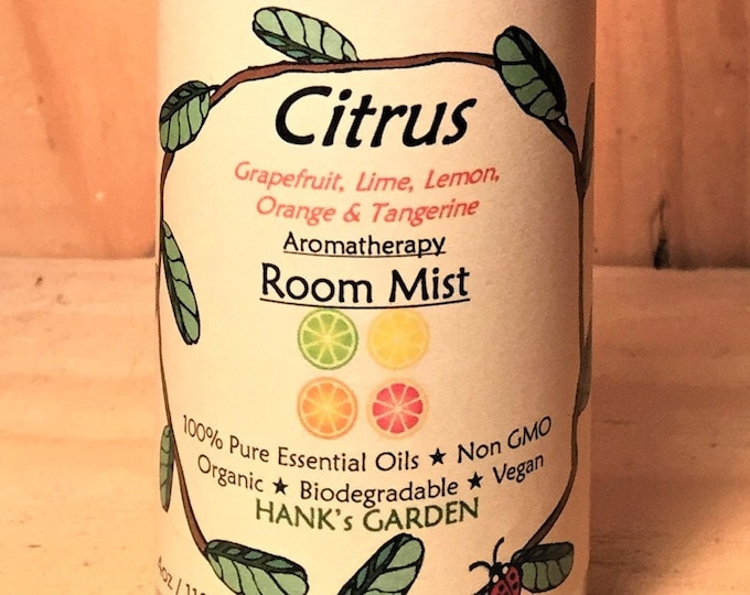 Featured listing image: CITRUS Aromatherapy Room Mist Spray - Grapefruit, Lime, Lemon, Orange & Tangerine Essential Oils - All Natural Biodegradable Vegan ORGANIC