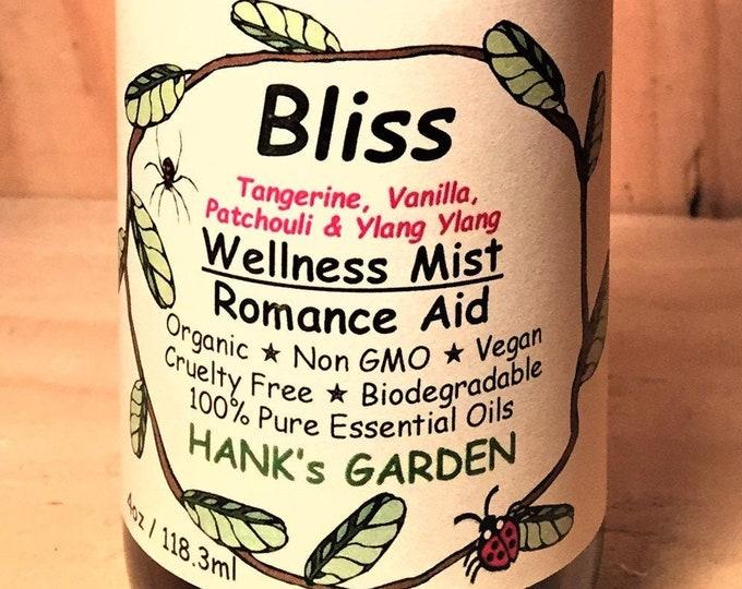 Featured listing image: BLISS Wellness Mist Romance Aid Aphrodisiac Aromatherapy Body Room Spray-with Tangerine, Vanilla & Ylang Ylang-Biodegradable Organic Vegan