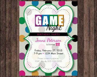 game night party invitations