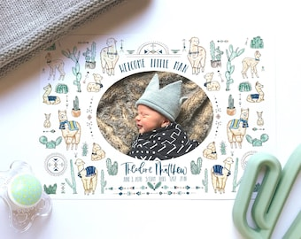 Photo baby/birth announcements for girls and boys