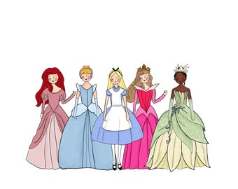 Disney Girls Paper Doll Collection