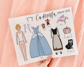 CINDERELLA Paper Doll, Disney Princess