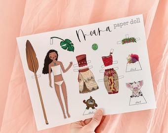 Moana Paper Doll