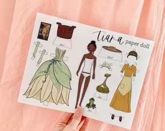 Tiana PAPER DOLL, Princess and the Frog, DISNEY Princess